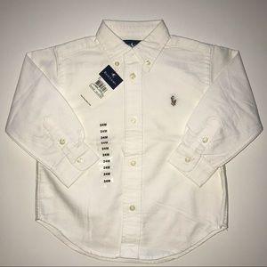 NWT Ralph Lauren Boys 24 mos White Polo Shirt NEW